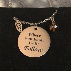 Gilmoregirls Where you lead I will follow necklace